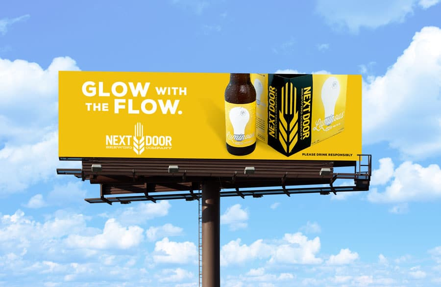 Billboard for Luminous India Pale Ale