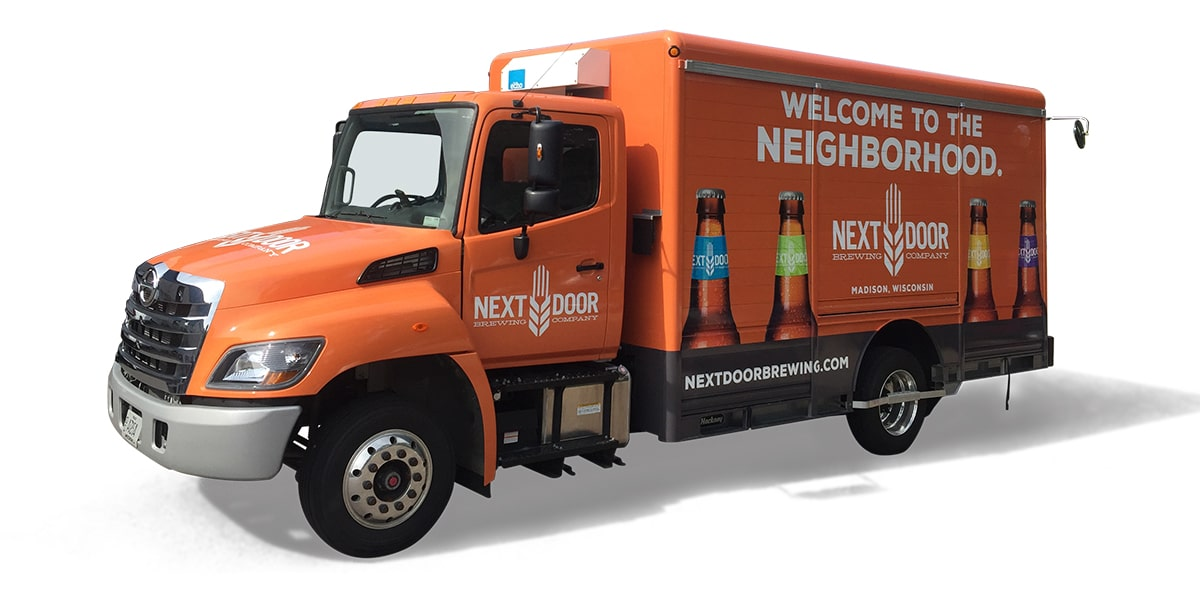 Next Truck Wrap for Next Door Brewing Company