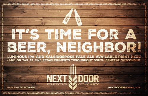 Next Door Brewing Company available poster