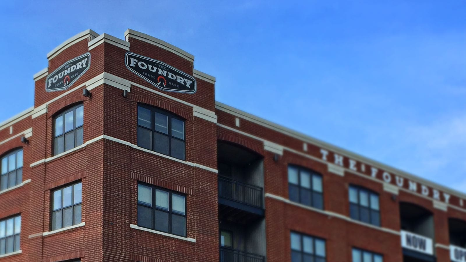 Exterior view of Foundry Apartments