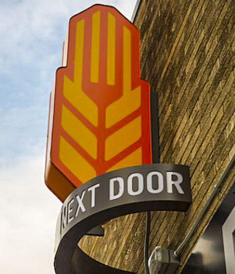 Exterior Sign for Next Door Brewing Company