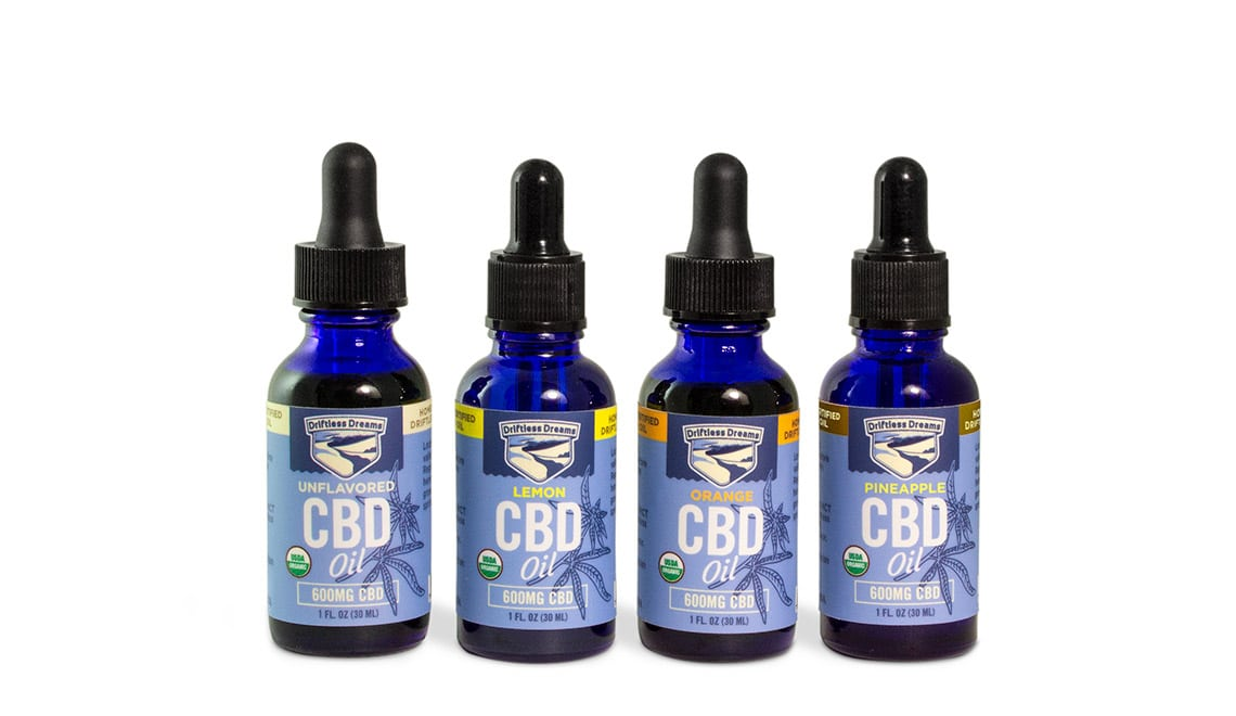 CBD oil packaging design for Driftless Dreams
