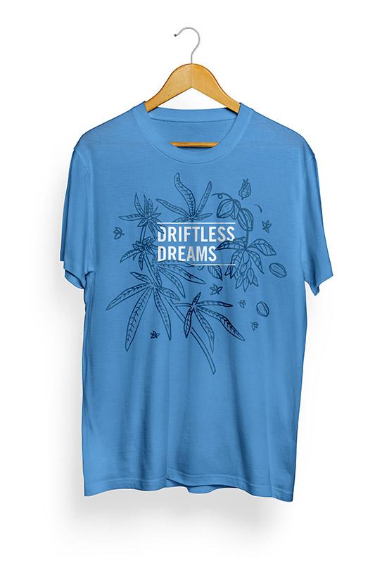 promotional t-shirt design for Driftless Dreams