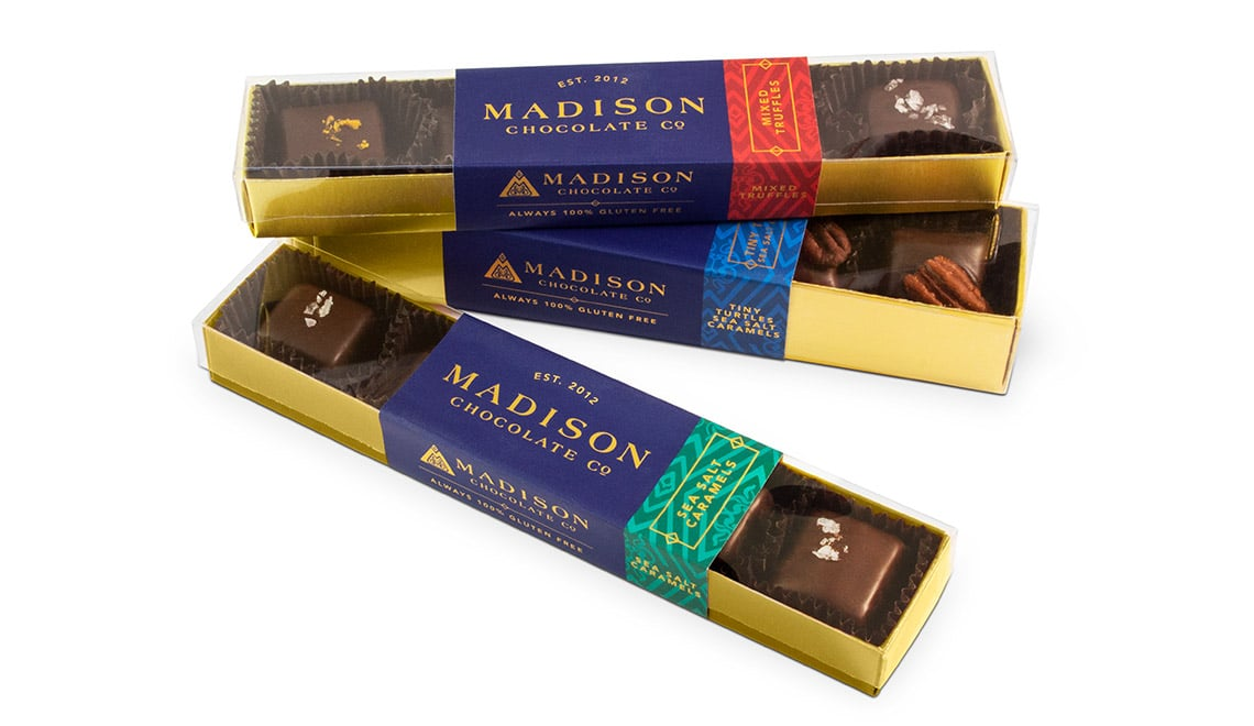 Madison Chocolate Company truffle packaging