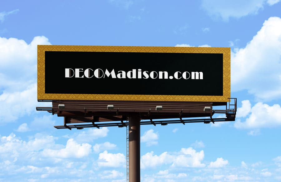 Deco Apartments website billboard
