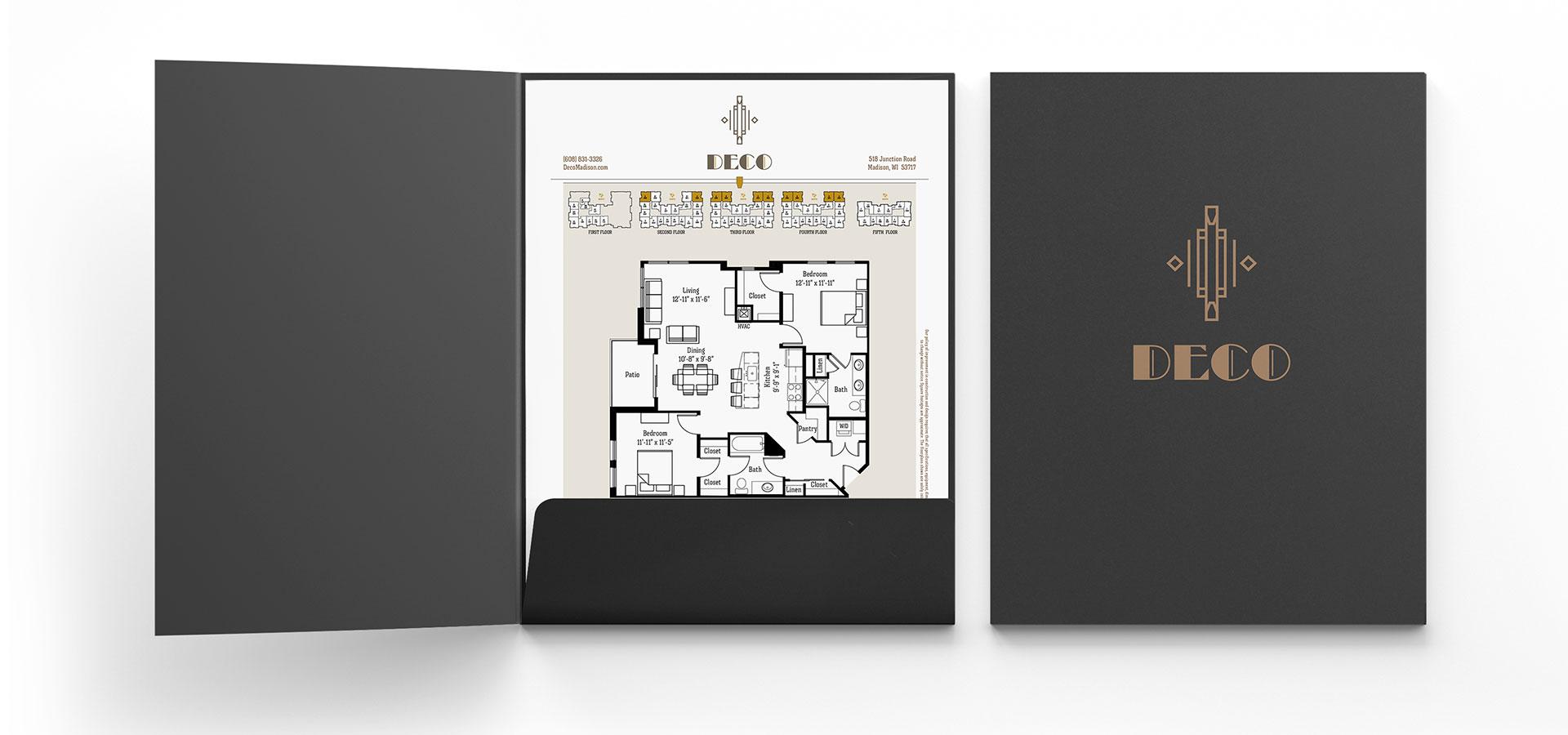 Folder design for Deco apartments