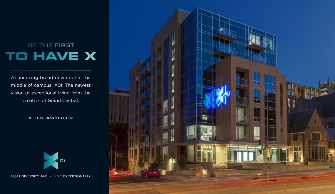 X01 print ad design